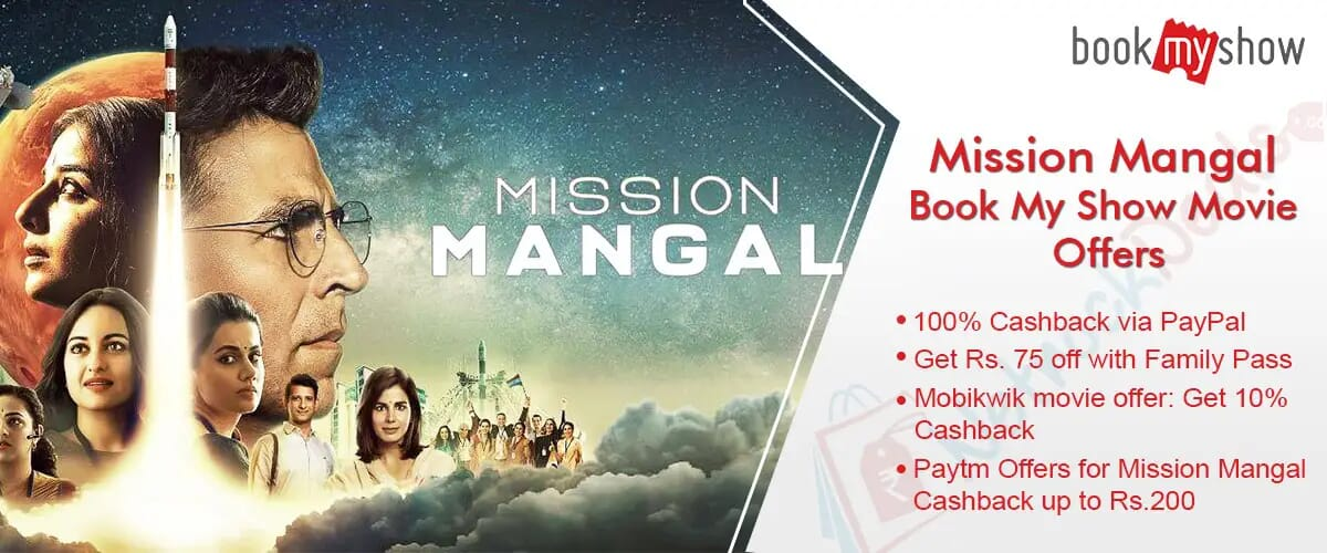 mission mangal Movies offer on bookmyshow