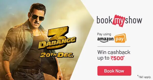 DABANGG - 3 Movie Tickets