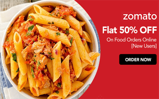 zomato 50% offf on food